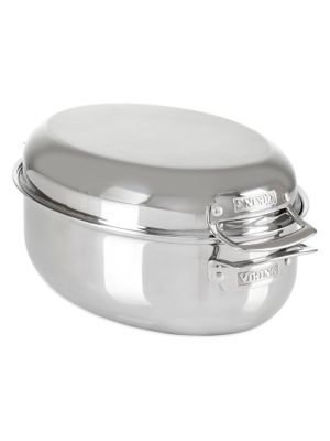 3-Ply 3-in-1 Stainless Steel 8.5-Quart Oval Roaster photo