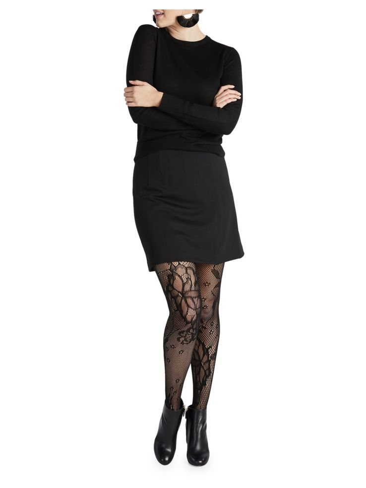 c691c00d4 Spanx - Fishnet Floral Mid-Thigh Shaping Tights - thebay.com