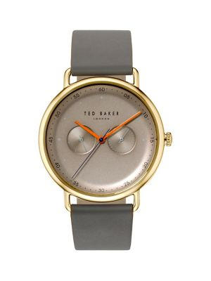 ca27100de09c5a QUICK VIEW. Ted Baker London. Multifunction Stainless Steel   Leather-Strap  Watch