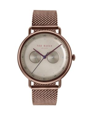 286cc12da55332 QUICK VIEW. Ted Baker London. George Brown Stainless Steel Mesh Bracelet  Watch