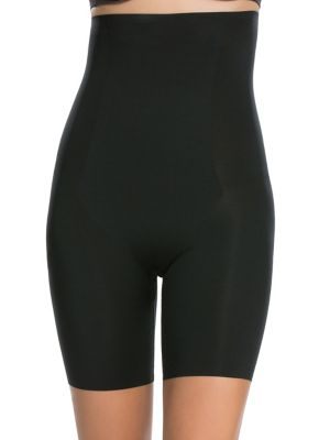 e6fa0ac07a88 Thinstincts High-Waisted Mid-Thigh Shorts VERY BLACK. QUICK VIEW. Product  image