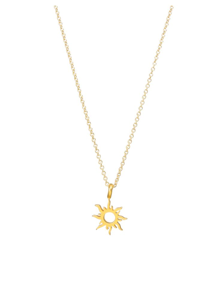 4fd75cc2829513 Dogeared - Good Vibes Only Radiant Sun necklace - thebay.com