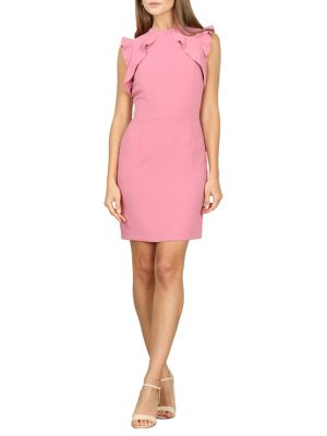 338a9419 Rosetta Woven Sheath Dress PINK. QUICK VIEW. Product image