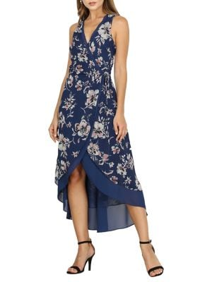 27845852ae0e Nicolie Faux Wrap High-Low A-Line Dress