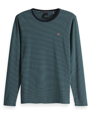 acf7a6d4 Product image. QUICK VIEW. Scotch & Soda. Stripe Long-Sleeve Tee