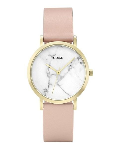montre femme bracelet cuir cluse