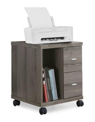 Office Cabinet On Castors White Image