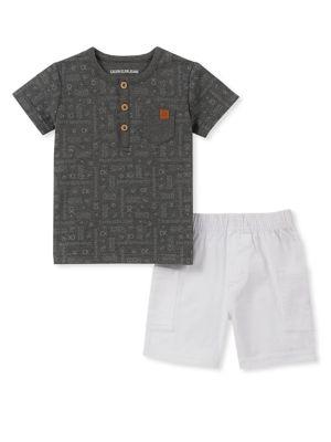 867f42e9 QUICK VIEW. Calvin Klein. Baby Boy's 2-Piece Printed Henley & Short Set