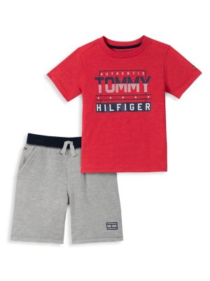 66882c20 QUICK VIEW. Tommy Hilfiger. Baby Boy's 2-Piece Graphic Cotton Blend Tee &  French Terry Drawstring Shorts Set
