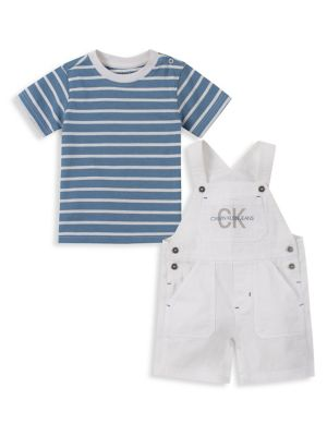 802dc086a19 QUICK VIEW. Calvin Klein. Baby Boy's 2-Piece Cotton Jersey Tee & Cotton  Twill Shortalls Set