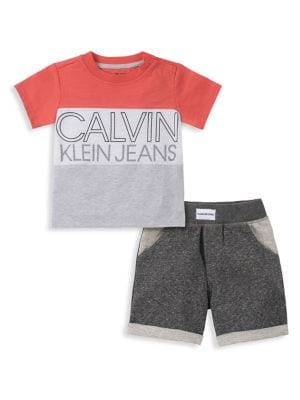 78db39e3 Product image. QUICK VIEW. Calvin Klein. Baby Boy's 2-Piece Cotton Jersey  Tee ...