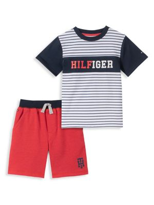 e346a877 Product image. QUICK VIEW. Tommy Hilfiger. Baby Boy's 2-Piece Cotton Blend  Tee & Shorts Set. $35.00 Now $24.50