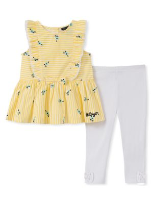 b8468e9df6186 QUICK VIEW. Tommy Hilfiger. Baby Girl s 2-Piece Ruffle Cotton Tunic    Leggings Set