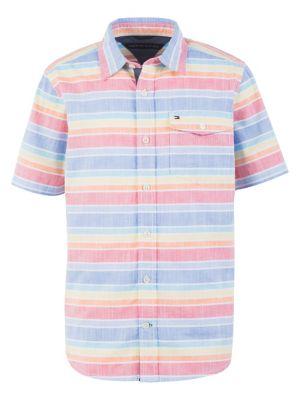 a17cfc698 Little Boy s Striped Cotton Button-Down Shirt