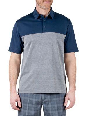 0de92d405bf Short-Sleeve Colourblock Polo STONE. QUICK VIEW. Product image