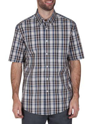 Regular-Fit Multi-Check Short-Sleeve Shirt