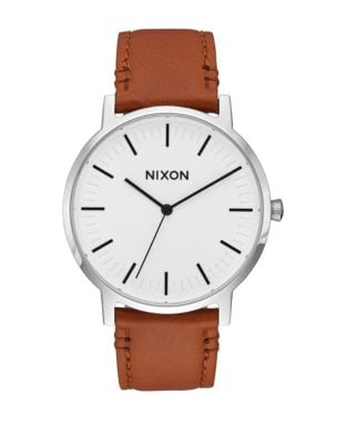 f144acf566b QUICK VIEW. Nixon. Analog Porter Stainless Steel Leather Strap Watch