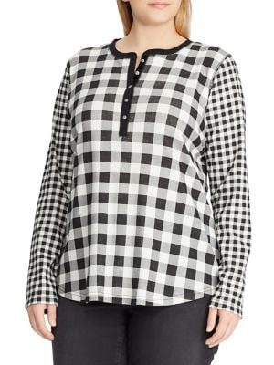 896bd2fef2e Product image. QUICK VIEW. Chaps. Plus Checkered Cotton Top