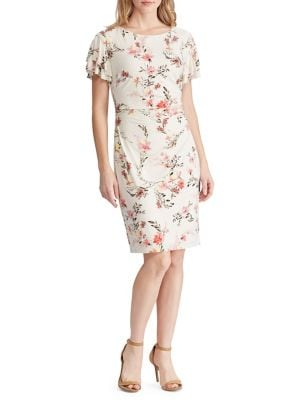 85f6d0ed133cc QUICK VIEW. Lauren Ralph Lauren. Slim Fit Floral Ruched Jersey Dress