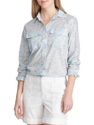 128f98de756 Product image. QUICK VIEW. Lauren Ralph Lauren. Floral Cotton Shirt