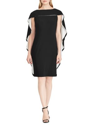 599f736a705a4 QUICK VIEW. Lauren Ralph Lauren. Two-Tone Cape Jersey Dress