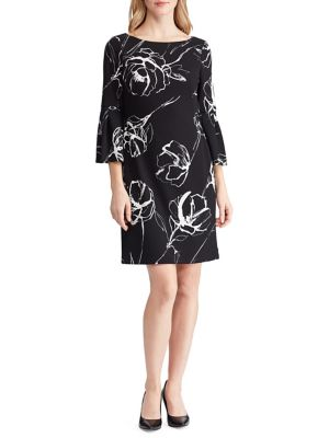 6d2dc718ed QUICK VIEW. Lauren Ralph Lauren. Floral Crepe Bell-Sleeve Dress