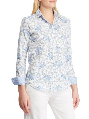 f6f4d210 QUICK VIEW. Chaps. Straight-Fit Graphic Button-Down Shirt