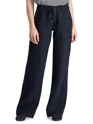 18b2173b1f9 QUICK VIEW. Lauren Ralph Lauren. Linen Wide-Leg Pant.  125.00 Now  75.00.  Plaid Cotton Trousers WHITE BLACK