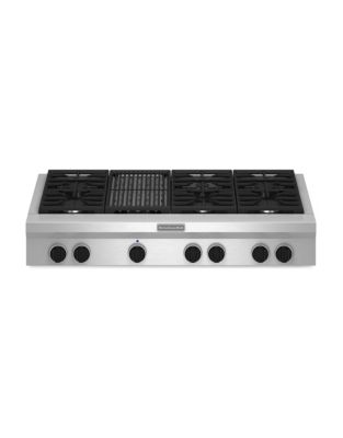 KGCU482VSS 48-inch Gas Cooktop with 20K BTU Ultra Power Dual-Flame Burner- Stainless Steel photo
