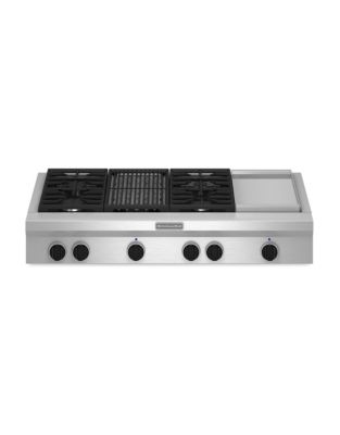 KGCU484VSS 48-inch Gas Cooktop with 20K BTU Ultra Power Dual-Flame Burner- Stainless Steel photo