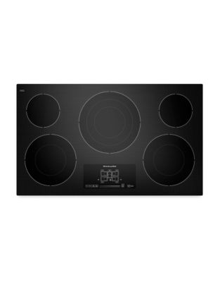 KECC667BBL 36-inch Electric Cooktop with Even-Heat Technology- Black photo