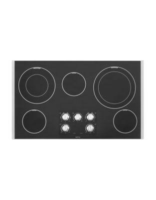 Table de cuisson Zlectrique en acier inoxydable de 91,5ÊcmÊMEC9536BS avec deux ZlZments DualÊChoice photo