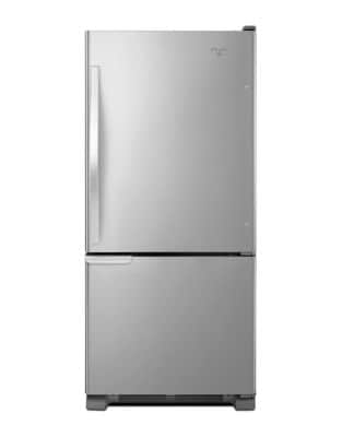 WRB119WFBM 18.7 cu. ft. Bottom-Freezer Refrigerator with Accu-Chill System- Stainless Steel photo
