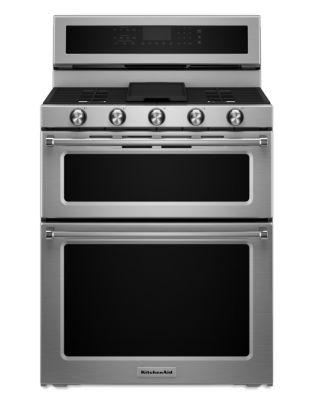 KFDD500ESS - 30-Inch 5-Burner Dual Fuel Double Oven Convection Range - Stainless Steel photo