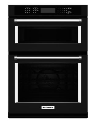 KOCE500EBL 30-inch Combination Wall Oven with Even-Heat True Convection (Lower Oven) - Black photo