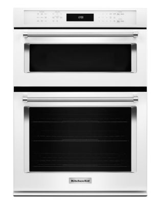 KOCE500EWH 30-inch Combination Wall Oven with Even-Heat True Convection (Lower Oven) - White photo