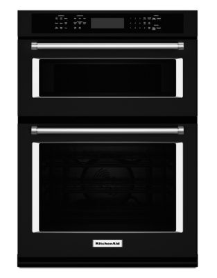 KOCE507EBL 27-inch Combination Wall Oven with Even-Heat True Convection (Lower Oven) - Black photo