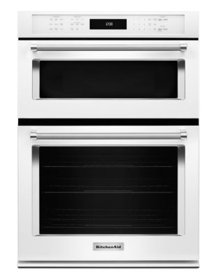 KOCE507EWH 27-inch Combination Wall Oven with Even-Heat True Convection (Lower Oven) - White photo