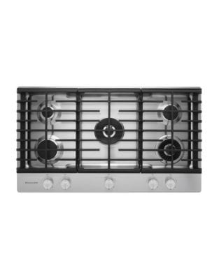 KCGS956ESS 36-inch 5-Burner Gas Cooktop with Griddle in Stainless Steel photo