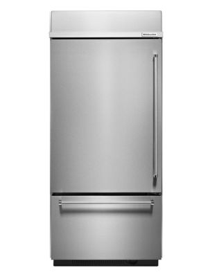 KBBL206ESS -36 inch Wide 20.9 Cu. Ft, Left Hand Refrigerator-Stainless Steel photo