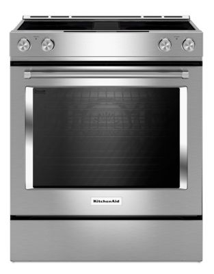 KSEG950ESS - 30-Inch 4-Element Electric Downdraft Front Control Range - Stainless Steel photo