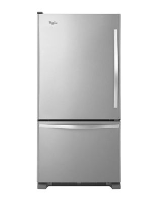 WRB329LFBM 18.7 cu. ft. Bottom-Freezer Refrigerator with Accu-Chill Temperature System- Stainless Steel photo