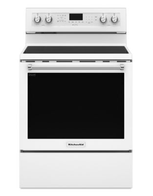 YKFEG500EWH - 30-Inch 5-Element Electric Convection Range - White photo