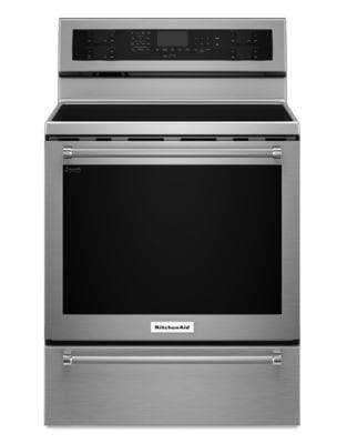 YKFES530ESS - 30-Inch 5-Element Electric Convection Range with Warming Drawer - Stainless Steel photo