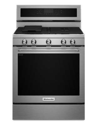 KFGG500ESS - 30-Inch 5-Burner Gas Convection Range - Stainless Steel photo