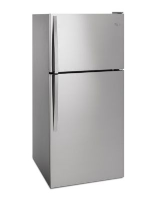 WRT148FZDM 18.2 cu. ft. Wide Top-Freezer Refrigerator with Frameless Glass Shelves- Stainless Steel photo