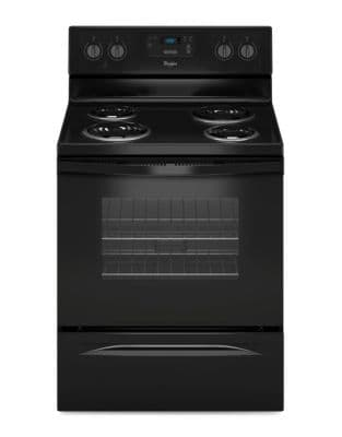 YWFC150M0EB 4.8 cu. ft. Freestanding Counter Depth Electric Range with Large Oven Window- Black photo