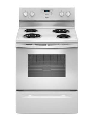 YWFC150M0EW 4.8 cu. ft. Freestanding Counter Depth Electric Range with Large Oven Window- White photo