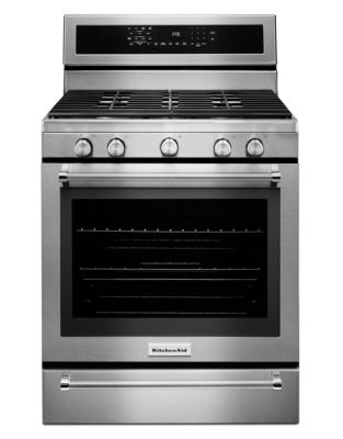 KFGS530ESS - 30-Inch 5-Burner Gas Convection Range with Warming Drawer - Stainless Steel photo