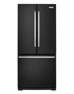 KRFF300EBL 30-Inch Wide 20 cu. ft. Standard Depth French Door Refrigerator - Black photo
